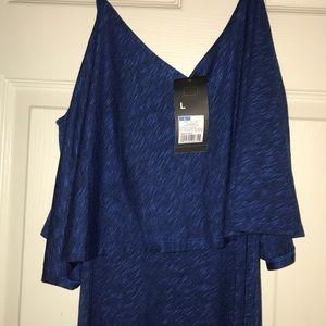 Maxi blue dress